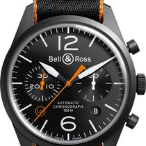 Bell & Ross BR V1 BRV126-O-CA New Steel 41mm Automatic