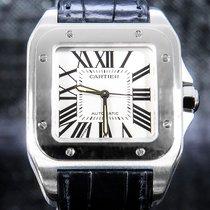 Cartier Santos 100 Stahl 35.6mm Silber Römisch