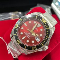 Seiko Prospex Титан 51mm Красный Без цифр