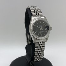 Rolex Oyster Perpetual Lady Date Сталь 26mm Черный Без цифр