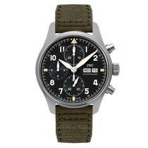 IWC Pilot Spitfire Chronograph Сталь 41mm Черный Aрабские