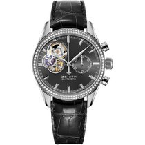 Zenith Steel Automatic Black No numerals 38mm new El Primero Chronomaster Lady