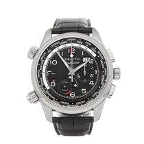 Zenith El Primero Doublematic pre-owned 45mm Black Chronograph Date Alarm GMT Crocodile skin