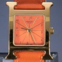 Hermès Heure H Stal 26mm Pomarańczowy Arabskie