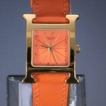 Hermès używany Kwarcowy 26mm Pomarańczowy Szkiełko szafirowe