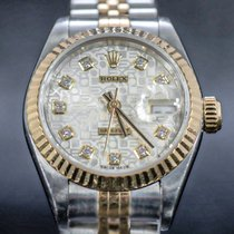 Rolex Lady-Datejust Gold/Steel 26mm Silver No numerals