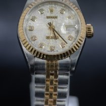 Rolex Lady-Datejust Gold/Steel 26mm Silver No numerals