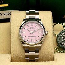 Rolex Oyster Perpetual 31 Stål 31mm Rosa Inga siffror
