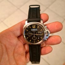 Panerai Luminor Chrono Acier 44mm Noir Arabes France, Grasse