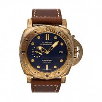 Panerai Bronze Automatic Blue No numerals 47mm pre-owned Special Editions
