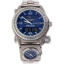 Breitling Emergency Titanium 43mm Blauw Arabisch Nederland, Klaaswaal