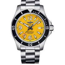 Breitling Superocean 44 Steel 44mm Yellow Arabic numerals