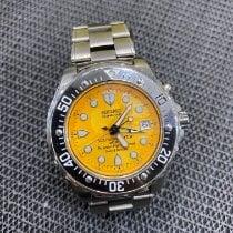 Seiko Titanium Automatic Orange No numerals 46mm pre-owned Kinetic