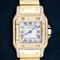 Cartier Santos Galbée neu Quarz Uhr mit Original-Box und Original-Papieren 866930
