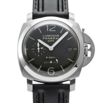 Panerai Luminor 1950 8 Days GMT Сталь 44mm Черный