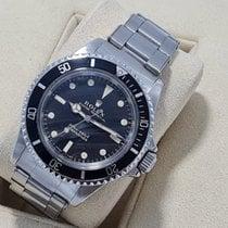 Rolex Submariner (No Date) Stal 40mm Czarny Bez cyfr