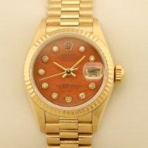 Rolex Lady-Datejust Yellow gold 26mm Orange