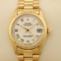 Rolex Żółte złoto Automatyczny Biały Bez cyfr 30mm używany Datejust 31