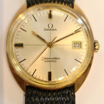 Omega Seamaster gebraucht 35mm Silber Datum Leder