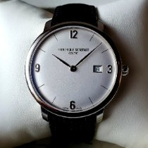 Frederique Constant Slimline Automatic pre-owned Silver Date Leather