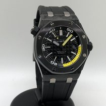Audemars Piguet Royal Oak Offshore Diver Carbon 42mm Schwarz Keine Ziffern