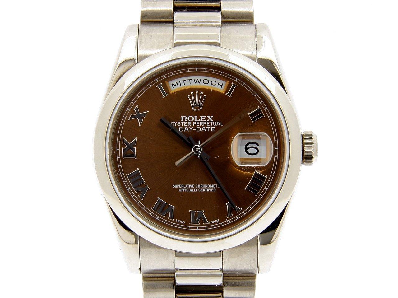 Rolex Day-Date 36 118209 2010 подержанные