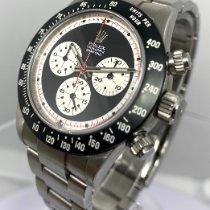 Rolex Daytona Сталь Черный Без цифр