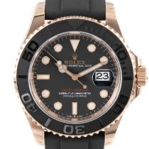 Rolex Yellow gold Automatic Black 40mm new Yacht-Master