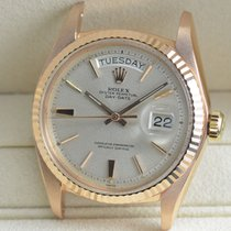 Rolex Rose gold Automatic Silver No numerals 36mm pre-owned Day-Date 36