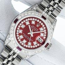 Rolex Lady-Datejust Сталь 26mm Красный