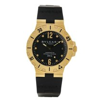 Bulgari Diagono Yellow gold 38mm Black United States of America, Massachusetts, Andover
