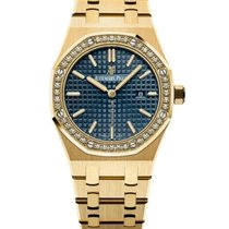 Audemars Piguet Royal Oak Lady Yellow gold 33mm Blue No numerals United States of America, New York, New York