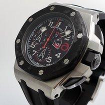 Audemars Piguet Platinum Automatic Black Arabic numerals pre-owned Royal Oak Offshore Chronograph