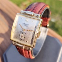 Gruen Curvex Gold/Steel 23.6mm Champagne Arabic numerals United States of America, Illinois, Roscoe
