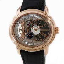 Audemars Piguet Millenary 4101 pre-owned Silver Crocodile skin