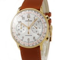 Junghans Meister Telemeter pre-owned White Leather