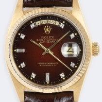 Rolex Day-Date 36 Ouro amarelo 36mm Vermelho Sem números