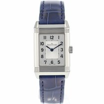 Jaeger-LeCoultre Reverso Classic Small Duetto Stahl 21mm Silber Arabisch