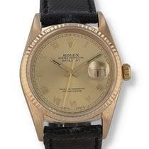 Rolex Yellow gold Champagne Roman numerals 36mm Datejust