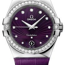 Omega Constellation Quartz Сталь 35mm Фиолетовый