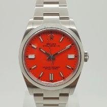 Rolex Oyster Perpetual 36 Otel 36mm Rosu Fara cifre