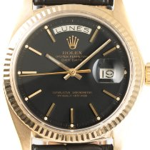 Rolex Day-Date 36 Yellow gold 36mm Black