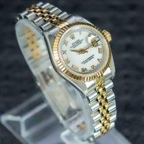 Rolex Lady-Datejust Gold/Stahl 26mm Weiß Römisch
