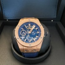Hublot Big Bang Meca-10 Oro rosa 45mm Azul Sin cifras