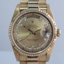 Rolex pre-owned Automatic 36mm Champagne Sapphire crystal 3 ATM