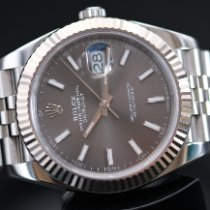 Rolex Steel Automatic Grey No numerals 41mm pre-owned Datejust