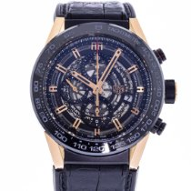 TAG Heuer Automatic Transparent 45mm pre-owned Carrera Calibre HEUER 01