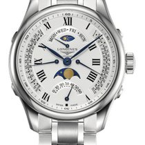Longines Master Collection Steel 41mm White Roman numerals