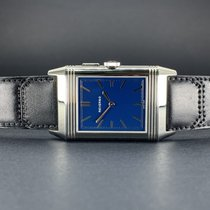 Jaeger-LeCoultre Grande Reverso Ultra Thin Duoface Stahl 46.5mm Blau