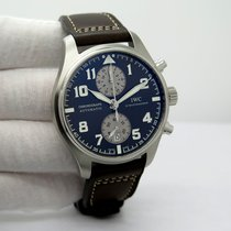 IWC Pilot Spitfire Chronograph pre-owned 43mm Brown Chronograph Date Leather